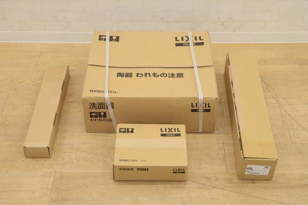 新品未開封リクシル 洗面器 立水栓 セット L-555ANC BW1 (2019年5月買取)